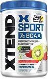 XTEND Sport Natural Zero - BCAA-Pulver - Erdbeer-Kiwi | Ergänzungsmittel mit verzweigtkettigen Aminosäuren | 7 g BCAA + Elektrolyte für Regeneration & Hydration | 30 Portionen