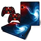 SKINOWN Skin Sticker für Microsoft Xbox One X Konsole und 2 Controller (Galaxy Nebular)