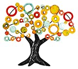 GILDE Wandrelief Lebensbaum - mehrfarbig aus Metall H 84 cm B 90