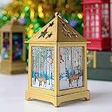 RMBLYfeiye LED Weihnachten Laterne Kerzenhalter, Weihnachtsmann Hängende Laternen Hochzeit Weihnachten Hause Tischdekoration Laternen für Garten Weihnachten Halloween