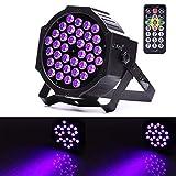 U 'king LED schwarz Licht-72W UV-Beleuchtung PAR Lichter Glow in the Dark Supplies Blacklight für Weihnachten und Geburtstag, Hochzeit Stage von IR-Fernbedienung kontrolliert, und DMX. 1 pack schwarz