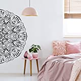 Halbe Mandala Aufkleber Innenarchitektur Wohnzimmer Schlafzimmer Yoga Studio Mandala Wandaufkleber Wohnkultur Wandbilder Abnehmbar A1 42x84cm