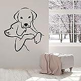 HGFDHG Hund Wandtattoo Tier Tierhandlung Pflege Salon Welpe Kinderzimmer Innendekoration Tür Fenster Vinyl Aufkleber Kunst Wallpap