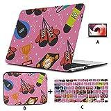 MacBook Pro Shell Hülle Bunte kreative Leder Boxhandschuhe MacBook Pro 2017 Zubehör Hartschale Mac Air 11'/ 13' Pro 13'/ 15' / 16'mit Notebook-Ärmeltasche für MacBook 2008-2020 Version