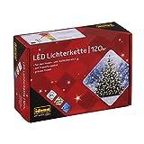 Idena 8325097 - LED Lichterkette mit 120 LED in warmweiß, mit 8 Stunden Timer Funktion und Transformator, ca. 19,9 m lang, Innen- und Außenbereich, für Partys, Weihnachten, Deko, H