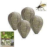 NMSLQ Wasp Nest Decoy, 4er Pack Natural Wasp Repellent Wasserdicht hängend Fake Wasp Nest Biene, Wasp & Hornet Control für Haus und Garten im Freien (Color : Dark Colour)