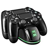 TOPELEK PS4 Controller Ladestation Playstation 4 Ladestation PS4 Docking Station Charger Stand mit LED Anzeige Kompatibel mit Sony PS4, Playstation4, PS4 Pro, PS4 S