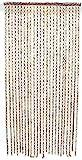 SIDCO Türvorhang Bambus Tür Vorhang Fadenvorhang Holz Ringe Fliegenvorhang R