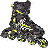 RAVEN Inline Skates Inliner Profession verstellbar (Black/Lime, 35-39(22,5cm-25cm))