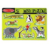 Melissa & Doug Zoo Animals Sound Puzzle   Puzzles   Wood   2+   Gift for Boy or Girl