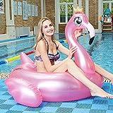 DOO Aufblasbarer Goldene Krone Flamingo Schwimmring Dicker PVC Schwimmring Wassermontage Schwimmende Reihe Erwachsene Junge Aufblasbarer Pool Pontoon Sommer Strand Schwimmbad Aufblasbare Party