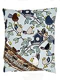 VITASIMPLEX Kräuterkissen mit 8 verschiedenen Heilkräutern wie Hopfen, Melisse, Fenchel, Minze, Rosenblütenblätter, Lavendel, Ysop, Quendel, Bezug waschbar, Motiv 342 (Vögel) ca. 20x24 cm