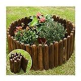 WXQIANG Massivholz-Garten-Garten-Zaun, Karbonisierungs-feuchtigkeitsfester Holzstapel, Flexible Outdoor-Dekoration für Terrasse-Blumenzaun, 9 Größen (Color : A, Size : 30 X 120CM)