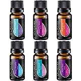 6 Top-Mischungen für Duftlampe, Ätherische Öle für Aroma Diffuser, Raumduft, Guter Schlaf, Bessere Stimmung, Freie Atmung, Muskelentspannung, Romantik, zum Wohlfühlen, bei Angstzuständen
