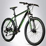 Bergsteiger Makalu 26 Zoll Mountainbike Aluminium, geeignet ab 150 cm, Scheibenbremse, Shimano 21 Gang-Schaltung, Hardtail, Jungen-Fahrrad & Herren-Fahrrad