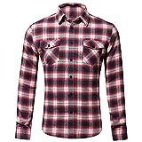 Hulday Herren Hemd Kariert Langarm Karohemd Freizeit Trachtenhemd Für Slim Fit Männer Mode Living Business Hemden Shirt Herbst Winter # 05 L (Color : Colour, Einheitsgröße : Einheitsgröße)