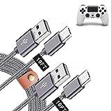 Ladekabel für PS4 Controller, 3 m, 2 Stück, zum Spielen und Laden, Micro-USB-Ladekabel für PS4 Pro/Slim Playstation4 Dualshock4 & Xbox One S/Elite/X Controller, extra langes, strapazierfähiges Nylon