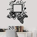 Game Controller Joystick Wandaufkleber Xbox Gamer Elektronischer Wettbewerb Coole Dekoration Junge Schlafzimmer Dekoration Diy Vinyl Aufkleber 47X42C