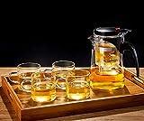 Teekanne Glas-Teekanne für die Teezubereitung, Glas-Tee-Set, Hochtemperaturbeständiger Teebereiter, Haushaltsfilter-Teekanne (Größe: 500 ml)