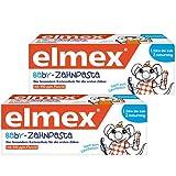 Elmex Baby-Zahnpasta vom 1. Zahn bis zum 2. Geburtstag, Doppelpack = 2x20ml Zahncreme MHD 30.04.2021