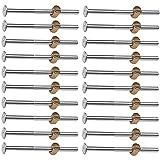 20 Stück Möbelschrauben,M6 x 90 Arbeitsplattenverbinder verzinkter Karbonstahl, mit Zylindermuttern, Dübelmuttern, Steckerhalterung