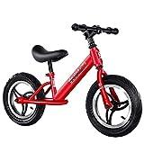 Lihgfw Kinder Balancen-Fahrrad, Keine Fahrräder, Kinder Zweirad-Baby-Schiebe-Scooter, Junge und Mädchen-Spielzeug-Auto-Wettbewerb, Sportkinderwagen 2-6 Jahre alt, Schwarz (Color : Rot)