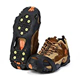 CHUER Schuhspikes, Ice Klampen Traktion rutschfeste über Schuhe/Stiefel 10 StollenSchnee Ice Grips Steigeisen Stollen Spikes für High Altitude Wandern EIS Schnee - L