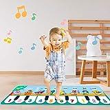 Kinder musikalische Matten, 43.3x14.2in, 8 Sounds Musik Klavier Tastatur Tanzboden Matte Teppichtier Decke Touch Matte Frühaufbildungsspielzeug für Baby Mädchen Jungs