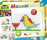 Lena 35603 Steckspiel Mosaik Set, 100 farbigen Steckern