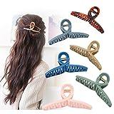 6 Stück haarspangen damen für Damen mit dickem Haar in Schwarz und Braun