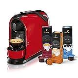 Tchibo Cafissimo Pure Kapselmaschine (für Kaffee, Espresso, Caffé Crema und Tee) (inkl. 30 Kapseln, Rot)