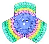 Pop It XXL Game, Anti-Stress Zappeln Spielzeug übergroß, Eltern Kind Spiele, Pop Regenbogen Schachbrett, Push Pop Bubble, Fidget Toys Sensory für Urlaub und Freizeit, SG Farbe:Dreiecke übergroß 01