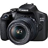 Canon EOS 2000D (24,1 MP) Digitale SLR-Kamera mit 3 Zoll (7,6 cm) LCD (schwarz) mit 2 x Objektiven (EF-S 18-55 mm IS STM II Objektiv und EF 50 mm f/1.8 STM Objektiv)
