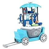 BEIAOSU 40 teiliges Arztkoffer Doctor Set für Kinder - Arzt Zahnarzt Werkzeug Medizinsche Kit Rollenspiel für Mädchen Junge ab 3 Jahre, Blau