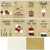 Geburtstagskarte, Geburtstagskarten Set, Glückwunschkarte Geburtstag, Karte Geburtstag, 8 Happy Birthday Karte für Frauen Mütter Ehefrau Freundin Liebhabers inkl Umschlag
