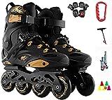 BESTPRVA Roller Skates for Outdoor-Männer Erwachsener atmungsaktiv Fitness Schwarz High Performance Geschwindigkeit Roller Skates for Anfänger und Teens