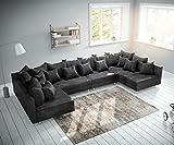 DELIFE Couch Clovis XL Anthrazit Antik Optik Wohnlandschaft Modulsofa