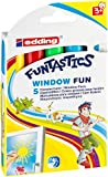 edding 4-16-5 Funtastics Window Marker, Fun e-16, 5er Set, 2-6 mm, sortiert