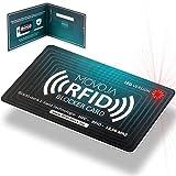 RFID Blocker Karte mit LED Indikator Technologie   Neuster Störsender   Deutsche Marke   Keine Reststrahlung   100% Schutz Dank E-Field   Keine Schutzhüllen mehr   Kredit-Karte EC Bank NFC 13,56 MHz