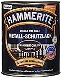 HAMMERITE 5087622 Hammerschlaglack Effektlack Schwarz 750 ml