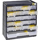 Allit 458090 VarioPlus Basic 32 Kleinteilemagazin, Schwarz, Gelb, (B x H x T) 300 x 335 x 135 mm