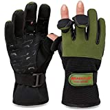 Angelhandschuhe Fishing Gloves Neopren Handschuhe Angeln Oliv/Schwarz M