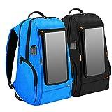 BuyBuyBuy KAUFBUYBUY Großer Wasserdichter Solarrucksack-Notfall-Handy USB, Der Intelligenten Reiserucksack Auflädt Grosse Kapazität (Color : Blue)