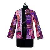 Handicraft Bazarr Active Jacket Hoodies Vintage Trainingsjacke Hippie Patchwork Weste Überwurf Hausmantel Outdoor Windbreaker Steppjacke Größe XL