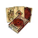 Fournier 1040828 Bicycle Vintage Kartenspiel für Sammler, Schwarz und R