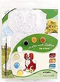 MAMMUT 113001 - Malen nach Zahlen Top in Form, Tiermotiv, Hund, Komplettset mit bedruckter und gestanzter Malvorlage, 7 Acrylfarben und Pinsel, Malset für Kinder ab 5 Jahre