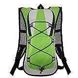 Tuimiyisou Hydratation-Rucksack Laufen Rucksack Geeignet Für Outdoor-wandern Laufen Radfahren Camping Klettern Sport Grün