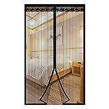 Magnet Fliegengitter Tür Insektenschutz Balkontür Fliegenvorhang Klebmontage Ohne Bohren Für Balkontür Wohnzimmer Terrassentür (90*210cm)