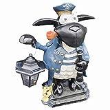Aspinaworld Schaf Molly mit Laterne als Kapitän, 50 cm, wetterfeste Gartenfigur aus Kunstharz, Schaf Figur