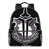IUBBKI Schwarzer Seitenrucksack Lässige Tagesrucksäcke Anime & Accel World - Nega Nebulas Insignia (Black King) Classic Student School Bag School Cycling Leisure Travel Camping Outdoor Backpack